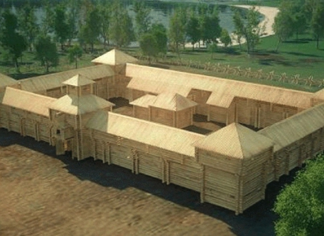 Старинная крепость имаяк появятся наберегу озера Чебаркуль