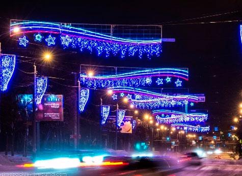 «Пусть работает». ВЧелябинске небудут убирать новогоднюю иллюминацию